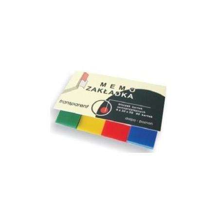 Zakładki indeksujące 4x 20x50mm transparent 40szt.