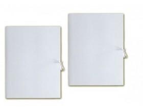 Teczka A4 biała wiązana BARBARA_25095