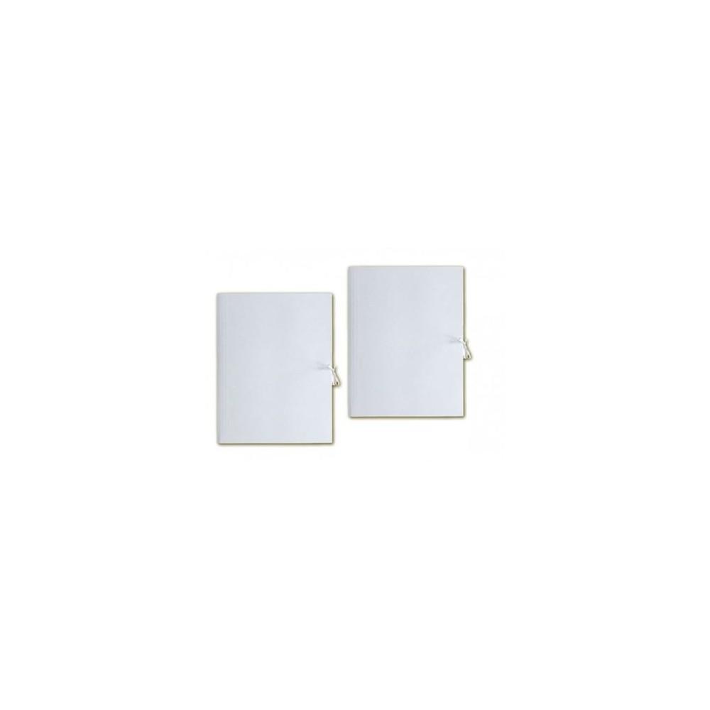 Teczka A4 biała wiązana BARBARA