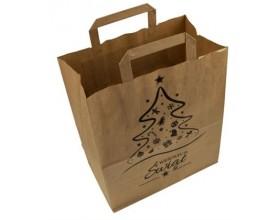 Torba papierowa świąteczna brązowa 260x140x300 mm_25876
