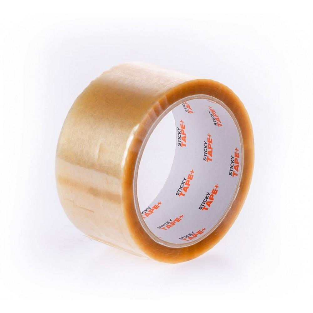 Taśma pakowa solvent  StickyTape+ 50/66y bezbarwna