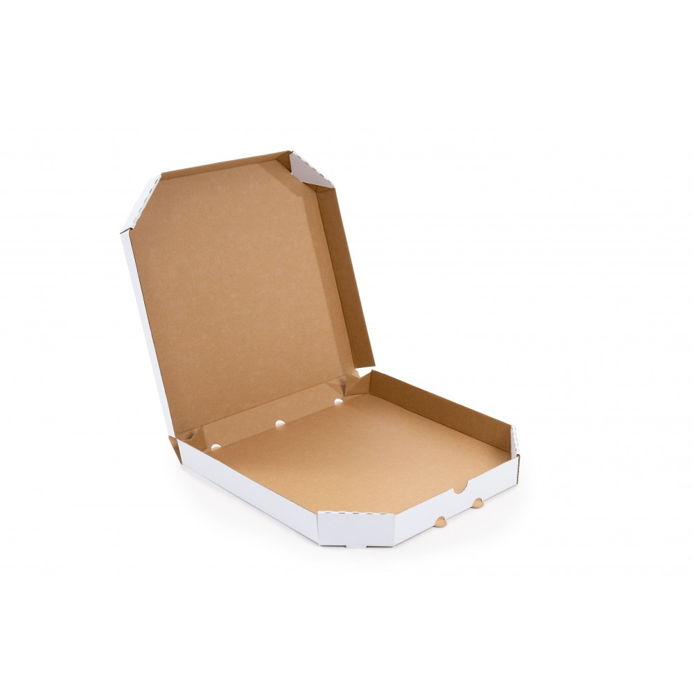 Karton fasonowy do pizzy 400x400x45mm biały