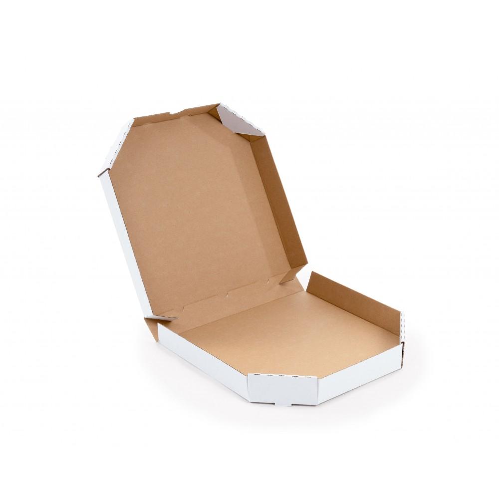 Karton fasonowy do pizzy 320x320x45mm biały