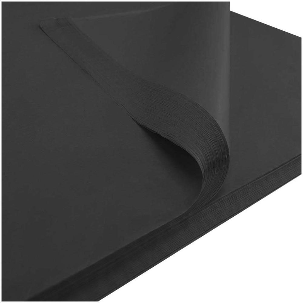Bibuła gładka 50x75cm czarna 50 szt