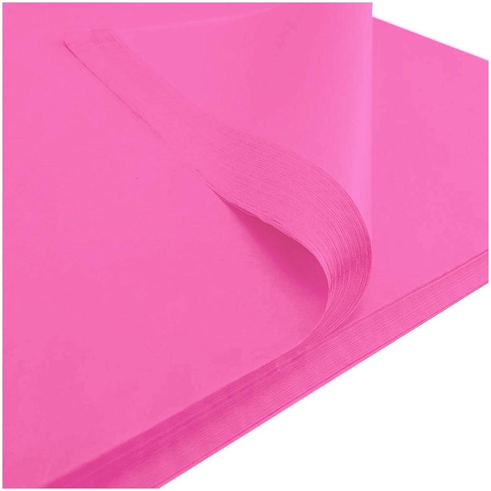 Bibuła gładka 50x75cm różowa 50 szt
